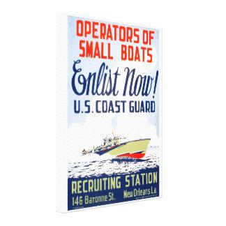 U. S. Coast Guard Enlist Now Canvas Print