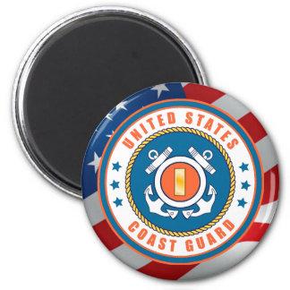U.S. Coast Guard Ensign Sticker 2 Inch Round Magnet