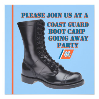 U S Coast Guard Going Away Party Invitation