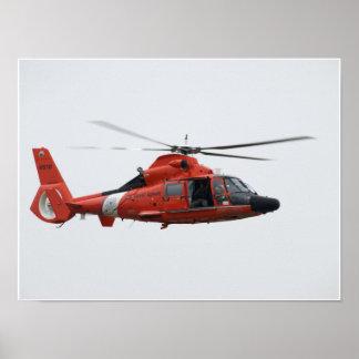 U.S. Coast Guard HH-65C Dauphin. Poster