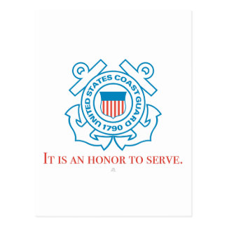"U.S. Coast Guard - ""It is an honor to serve."" Postcard"