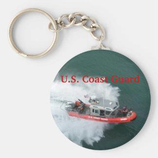U.S. Coast Guard Basic Round Button Keychain