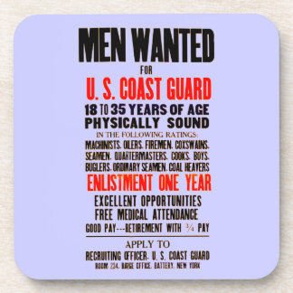 U.S. Coast Guard Men Wanted 1914  Cork Coasters