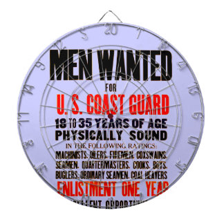 U.S. Coast Guard Men Wanted 1914 Dartboard