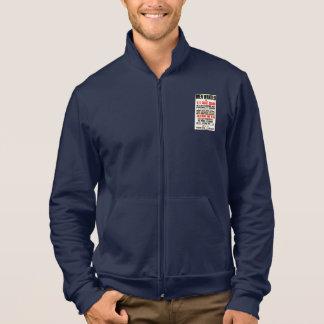 U.S. Coast Guard Men Wanted 1914 Fleece Zip Jogger Jacket
