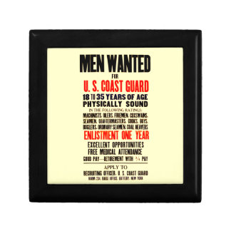 U.S. COAST GUARD MEN WANTED 1914 GIFT BOX