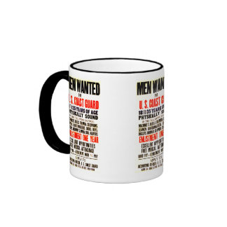 U S COAST GUARD MEN WANTED 1914 COFFEE MUGS