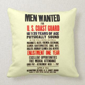 U.S. Coast Guard Men Wanted 1914 Pillows