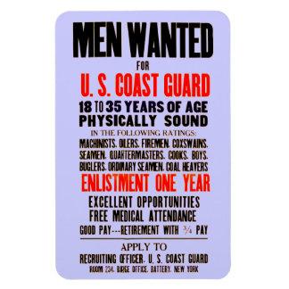 U.S. Coast Guard Men Wanted 1914 Rectangular Photo Magnet