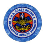 U.S. Coast Guard Rescue Swimmer Set Of Poker Chips