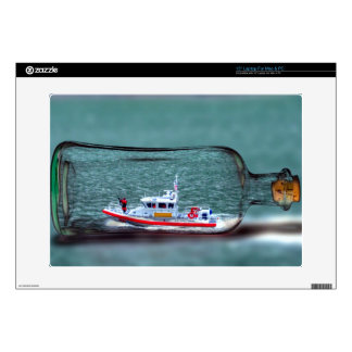 U.S Coast Guard Ship in a Bottle Decals For Laptops