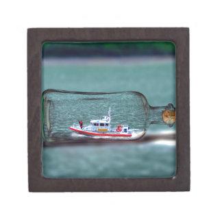 U.S. Coast Guard Ship in a Bottle. Jewelry Box