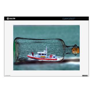 U.S. Coast Guard Ship in a Bottle. Laptop Skins