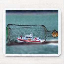 U.S. Coast Guard Ship in a Bottle. Mouse Pad
