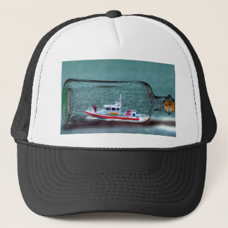 U.S. Coast Guard Ship in a Bottle. Trucker Hat