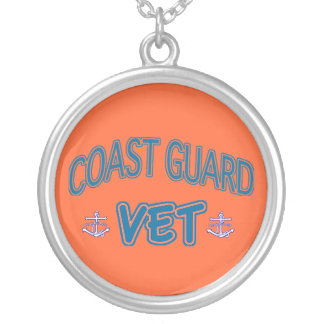 U.S. Coast Guard Veteran Silver Plated Necklace