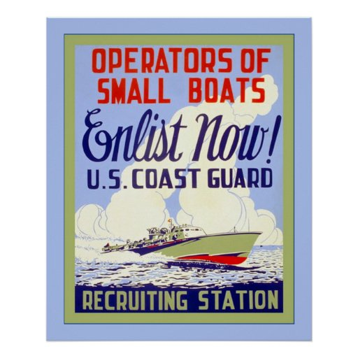 U.S. Coast Guard ~ Vintage World War 2 Poster