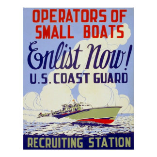 U.S. Coast Guard ~ Vintage World War 2. Poster