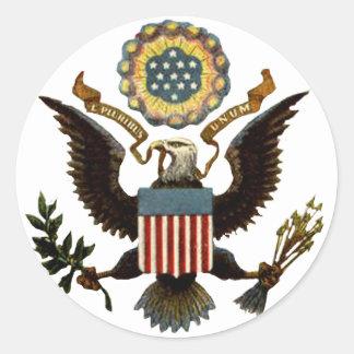 U.S. COAT OF ARMS CLASSIC ROUND STICKER