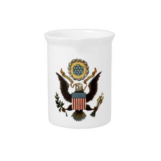 U.S. COAT OF ARMS DRINK PITCHER