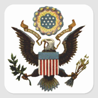 U.S. COAT OF ARMS SQUARE STICKER