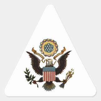 U.S. COAT OF ARMS TRIANGLE STICKER