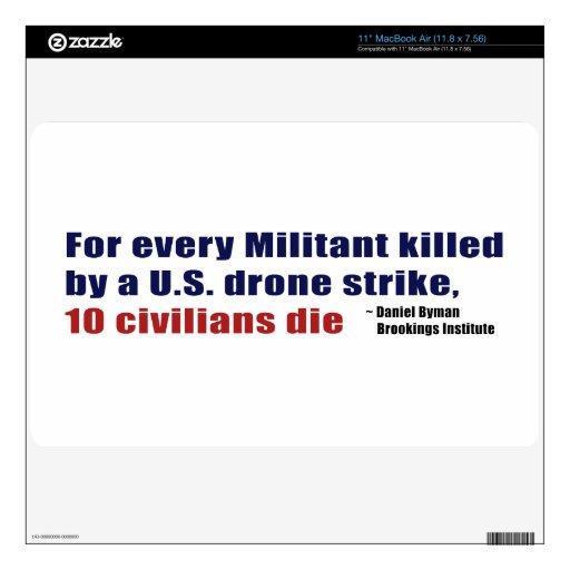 U.S. Coeficiente civil militante de la matanza de  Calcomanía Para 27,9cm MacBook Air