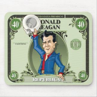 U.S. Cojín de los presidentes ratón: #40 Ronald Re Tapetes De Ratón