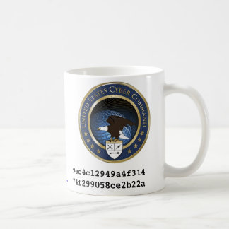 U S Comando cibernético Taza De Café