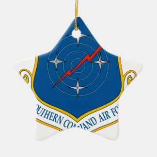 U.S. Comando meridional de las fuerzas aéreas Adorno Navideño De Cerámica En Forma De Estrella