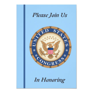 U.S. Congress Retirement Invitation