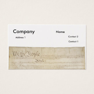 U.S. Constitution_Pg1 and 4 Business Card