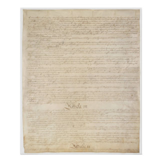 U.S. Constitution_Pg 3 of 4 Poster