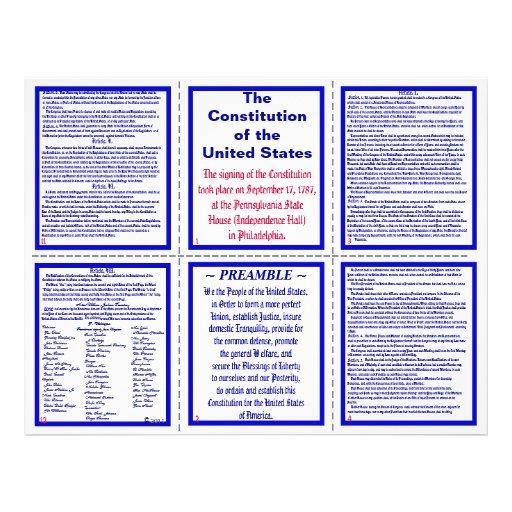 U.S. Constitution Pocket Pamphlet / Bookmark Flyers
