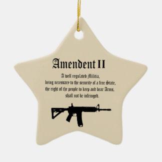 U S Constiution  Right To Bear Arms  2nd Amendment Ceramic Ornament