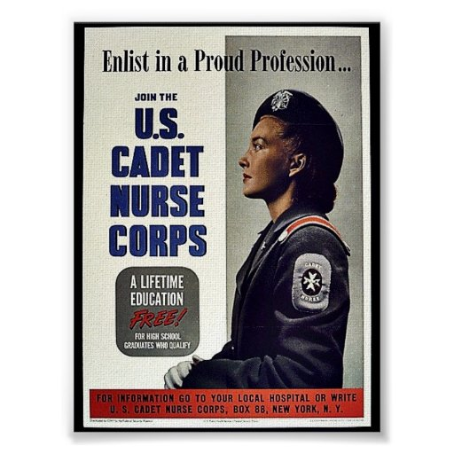 U.S. Cuerpo de enfermera del cadete Póster