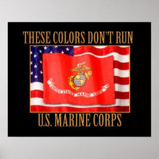 """U.S. Cuerpo del Marines 20"""" x 16"""" impresión Póster"""