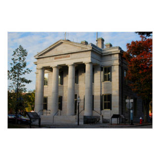 U.S. Custom House In New Bedford Mass. Poster