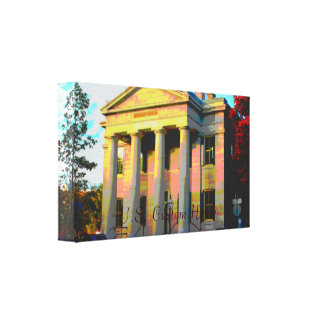 U.S. Custom House - Massachusetts Wrapped Canvas Stretched Canvas Prints