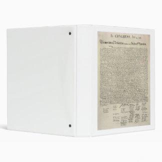 U.S. Declaration of Independence 1823 Facsimile Binder