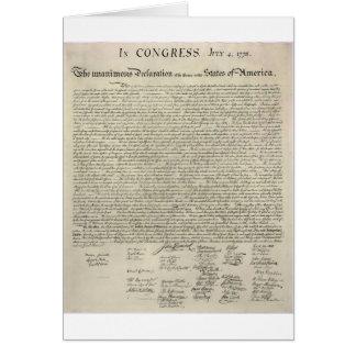 U.S. Declaration of Independence 1823 Facsimile Greeting Card