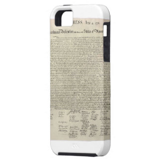 U S Declaration of Independence 1823 Facsimile iPhone 5 Covers