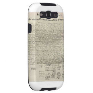 U.S. Declaration of Independence 1823 Facsimile Galaxy SIII Cover