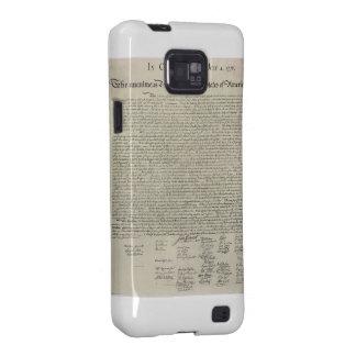U S Declaration of Independence 1823 Facsimile Samsung Galaxy Case