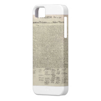 U S Declaration of Independence 1823 Facsimile iPhone 5 Cover