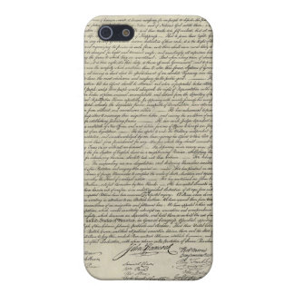 U S Declaration of Independence 1823 Facsimile Cases For iPhone 5
