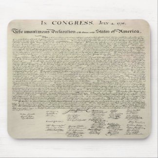 U.S. Declaration of Independence 1823 Facsimile Mousepads