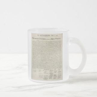 U.S. Declaration of Independence 1823 Facsimile Coffee Mug