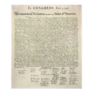 U.S. Declaration of Independence 1823 Facsimile Photo Print