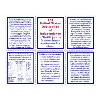 U.S. Declaration of Independence Pocket Pamphlet Flyer